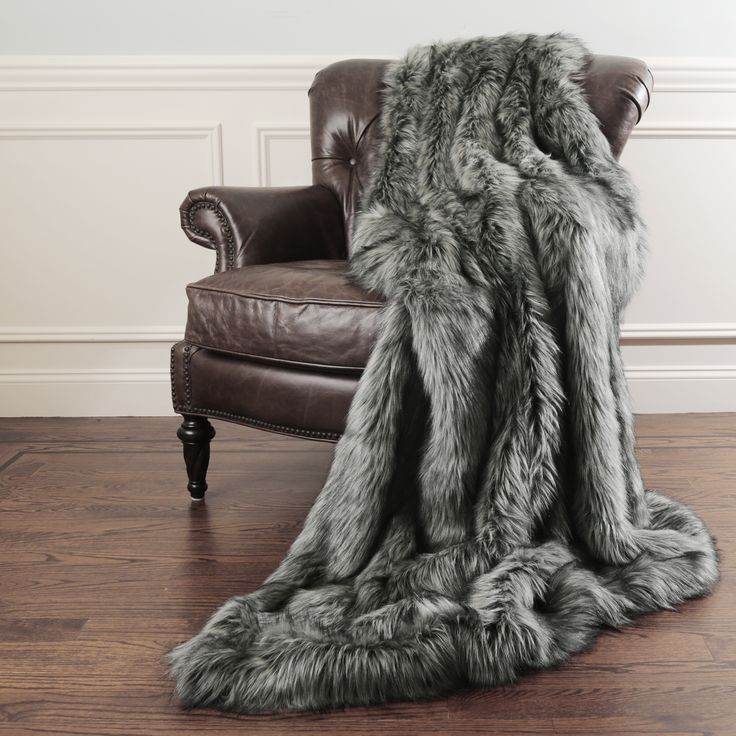 Aurora Home Faux Fur Throw Blankets By Wild Mannered With
