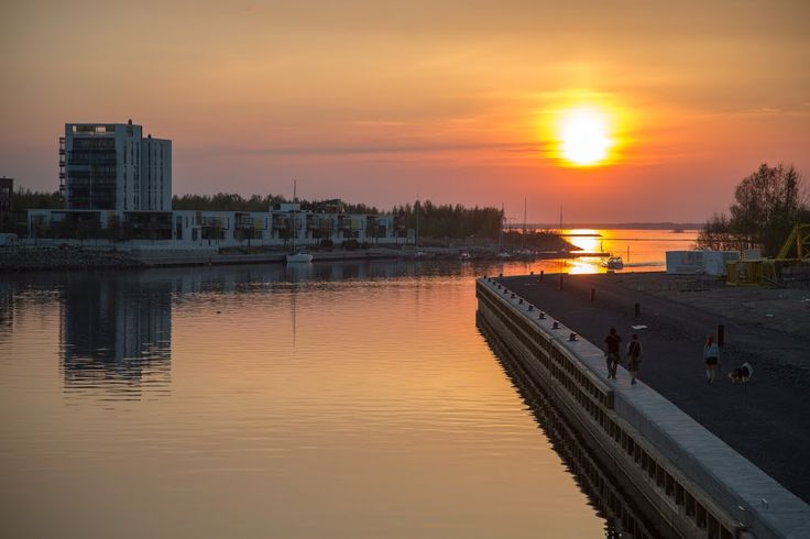 Sunset on a beautiful May night, Oulu Finland - photo Kimmo Lahti