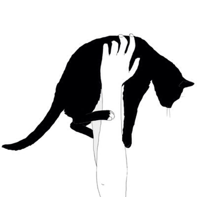 me and my cat silhouette