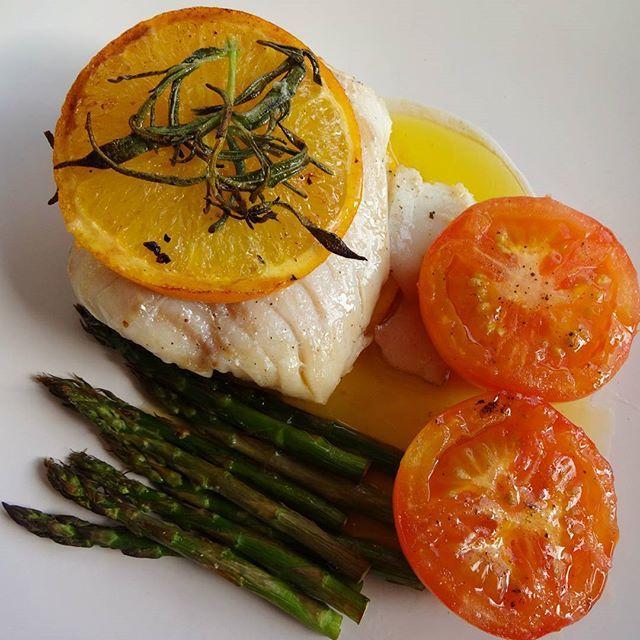 Edel's Mat & Vin : Grillet torskefilet med appelsin og rosmarin !