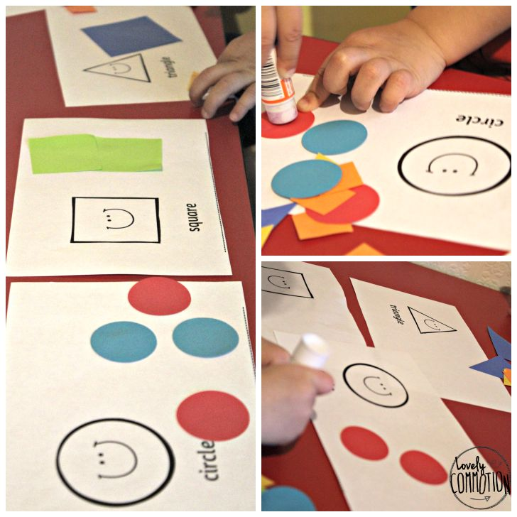 Simple Toddler Shape Book - Lovely Commotion with free printable