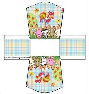 LARGE SET---Fazendinha Menino - Kit Completo com molduras para convites, rótulos para guloseimas, lembrancinhas e imagens! - Fazendo a Nossa Festa