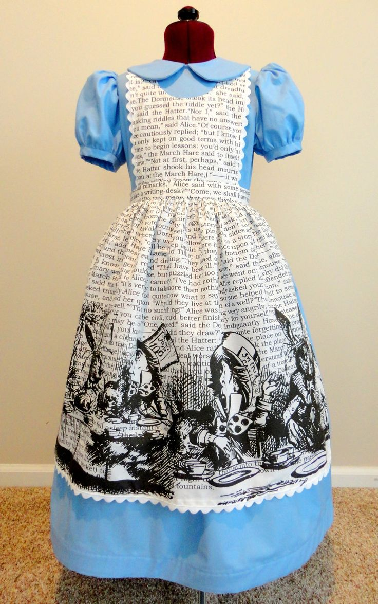 Alice in Wonderland Halloween Costume Dress. | oh my goodness it's 285.  maybe next year.  love all the details
