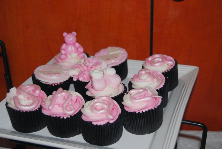 Cupcakes with baby's name