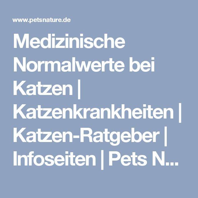 Medizinische Normalwerte bei Katzen | Katzenkrankheiten | Katzen-Ratgeber | Infoseiten | Pets Nature Online-Shop