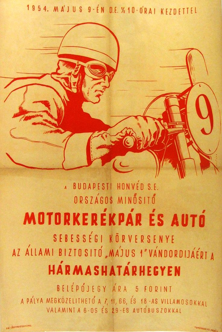 Czech Motorcycle Poster 1954