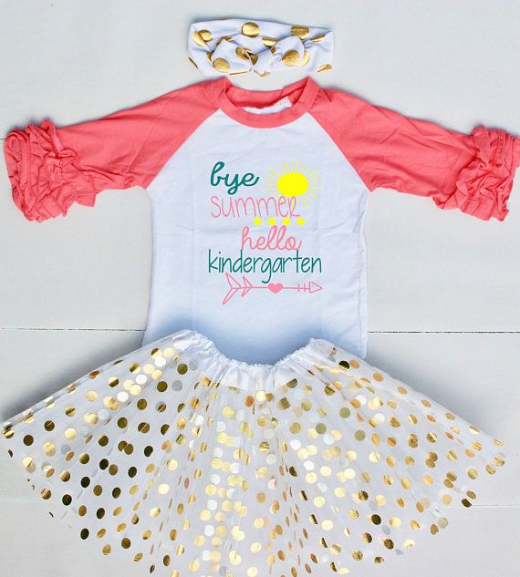 1st Day of Kindergarten Outfit - Kindergarten Shirt for Girls - Back to School Shirt - First Day of Kindergarten Outfit for Girls