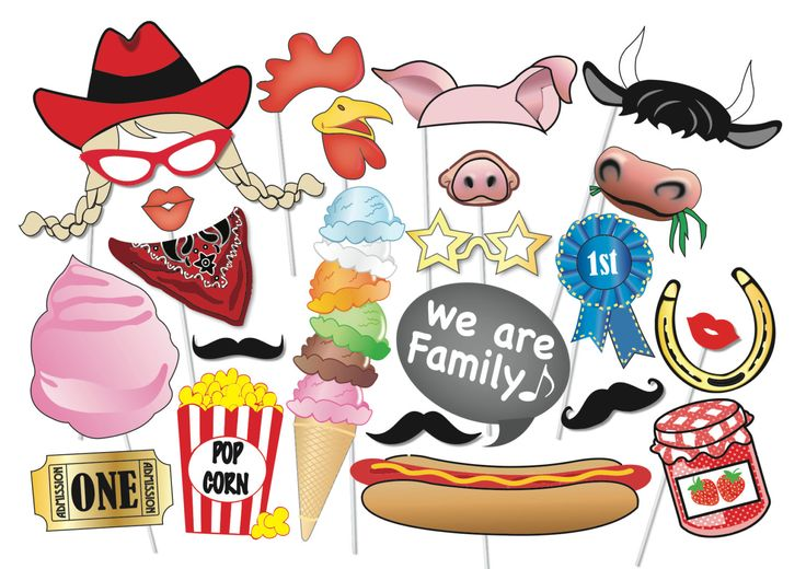 Fete / County Fair Props Set - 25 Piece PRINTABLE - Fair, Festival, Farm Party, Circus, Raffle, Show,White elephant stall, Photo Booth Props by TheQuirkyQuail on Etsy https://www.etsy.com/listing/197888471/fete-county-fair-props-set-25-piece