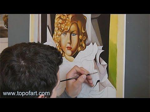 Art Reproduction (Tamara de Lempicka - The Polish Girl) Hand-Painted Oil Painting - YouTube