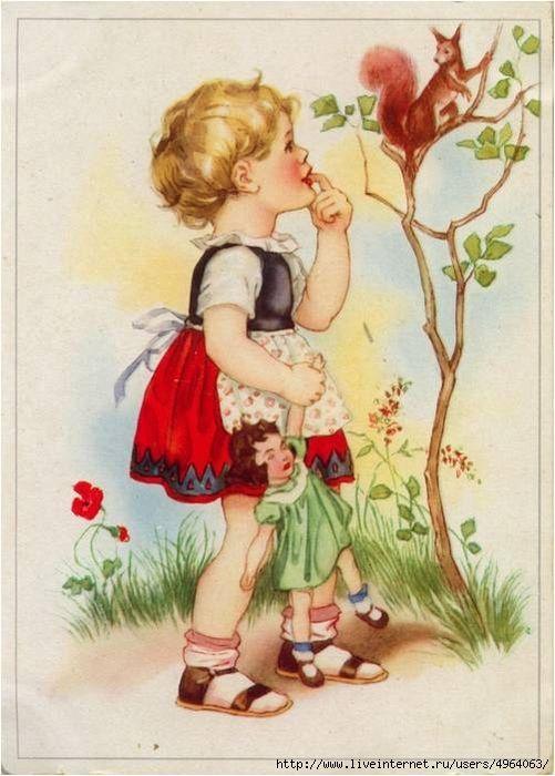 Винтажная открытка германия