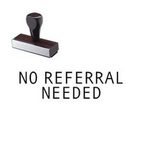 "Find the Regular No Referral Needed Rubber #Stamp online at #Acorn #Sales. This medical office stamp features the phrase ""No Referral Needed"". Grab one!"