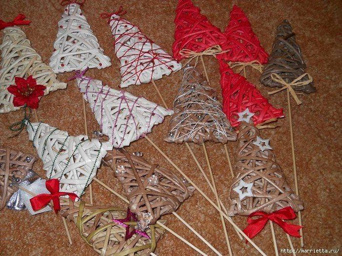 Новогоднее плетение из газет