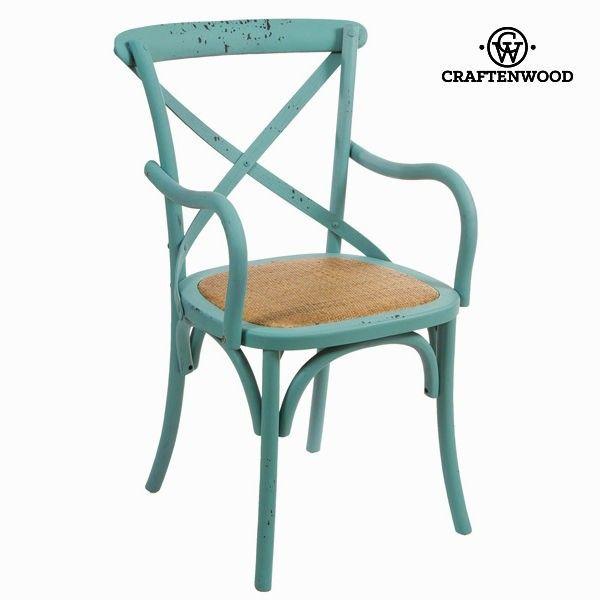 El mejor precio en Hogar 2017 en tu tienda favorita https://www.compraencasa.eu/es/mesas-sillas/66726-silla-con-brazos-madera-azul-by-craftenwood.html