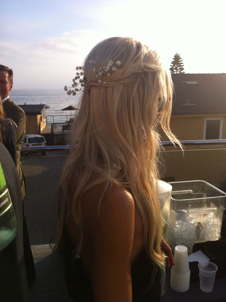 Hair by Emily and stone cold fox onyx dress for HP's wedding @Stone Fox Bride daysofhair