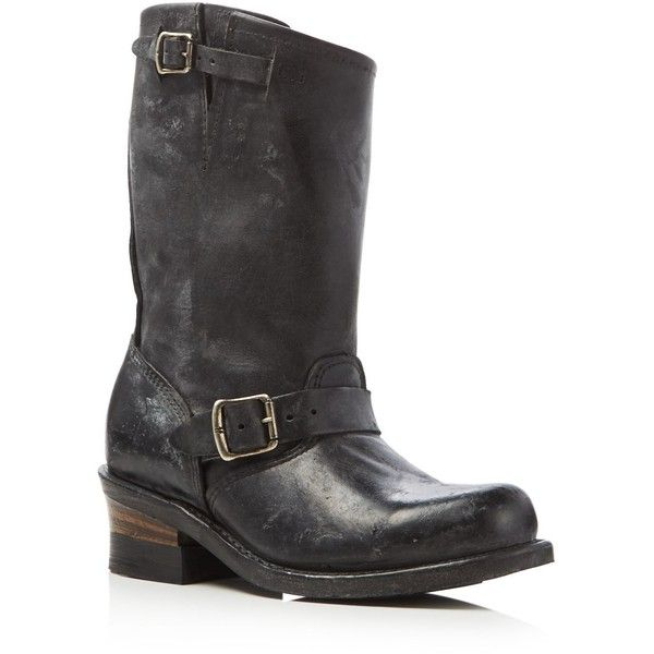 Frye Engineer Boots - Compare at $358 ($358) ❤ liked on Polyvore featuring shoes, boots, black, leather upper boots, engineer boots, leather upper shoes, biker boots and black rubber sole shoes