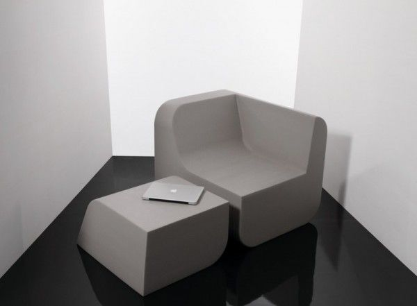Stylish Chair Made Of Foam Block