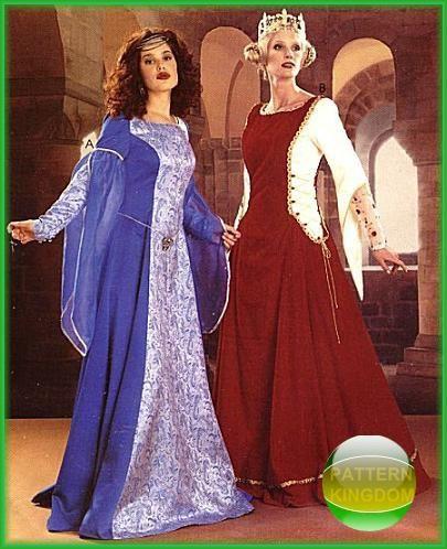McCalls 60 Medieval Camelot Princess GownDress Patterns Interesting Medieval Dress Pattern