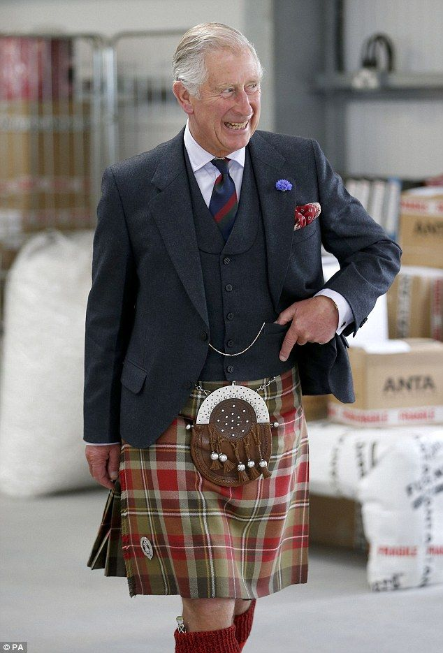 The prince, also known as the Duke of Rothesay, also visited Anta home furnishings in Fear...