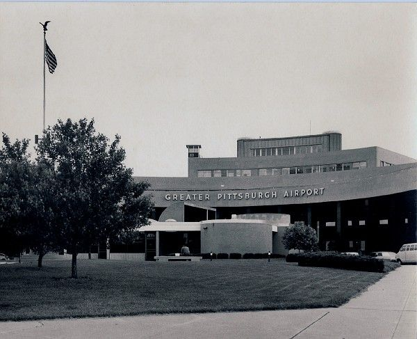 The original Pittsburgh airport - demolished in the early 1990s before USAirways and AmericaWest combined.  US Air convinced Pittsburgh to build a beautiful new airport that is now almost a ghost town since USAirways has all but pulled out.  Sometimes wonder if the old one would have sufficed?