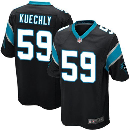 Luke Kuechly NFL Stitched Elite Jersey! feature's a zoned stretch fabric that enables precise fit and movement. This water repellent fabric stays lightweight all day, features strategic ventilation ov