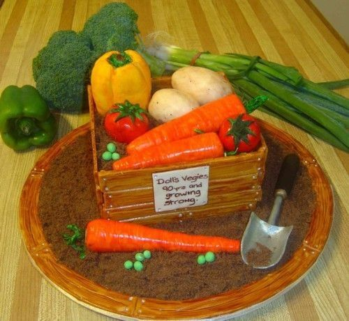 Cake Decorating Vegetables : 362 best images about Garden Cakes/Cookies/Cupcakes/Cake ...