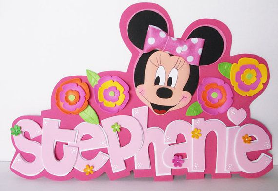 Decoración de la pared de la espuma 3D Minnie por FofuchasDolls, $20.00