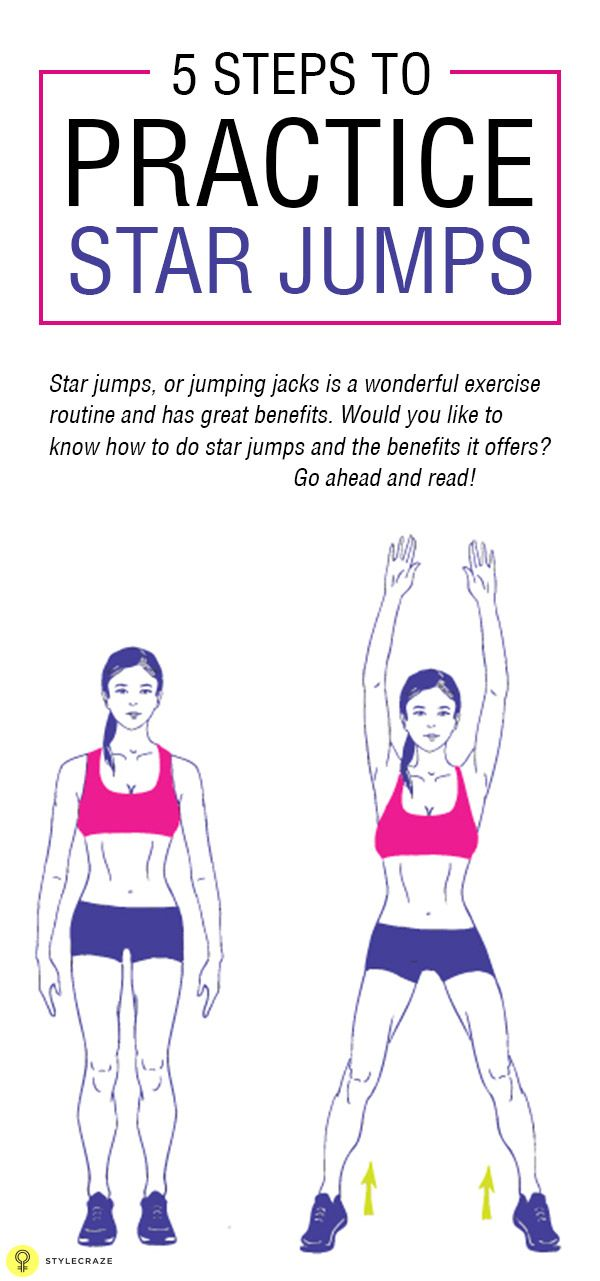 5 Simple Steps to Practice Star Jumps #fitness