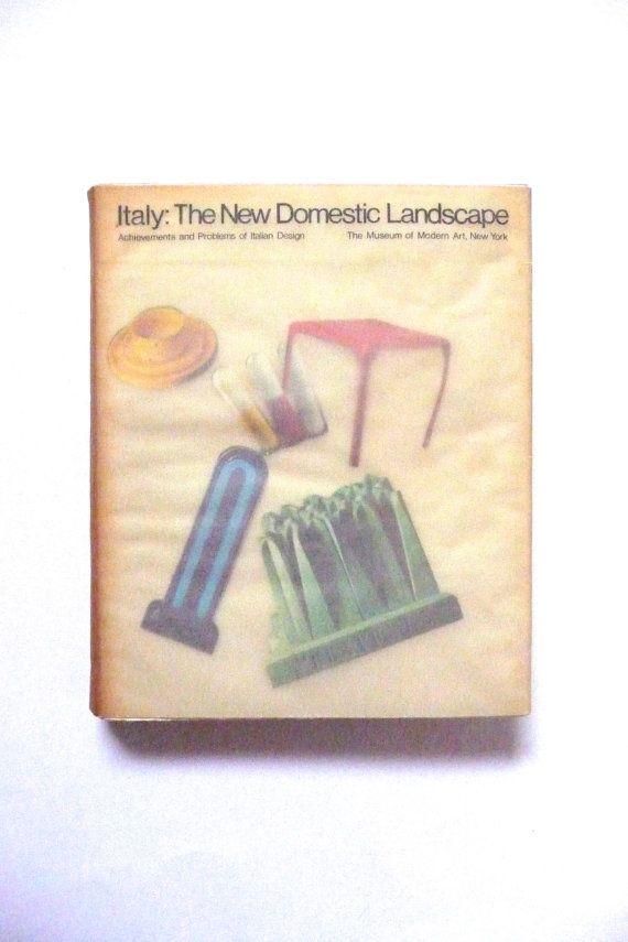 Italy The New Domestic Landscape Vintage Art Design Book
