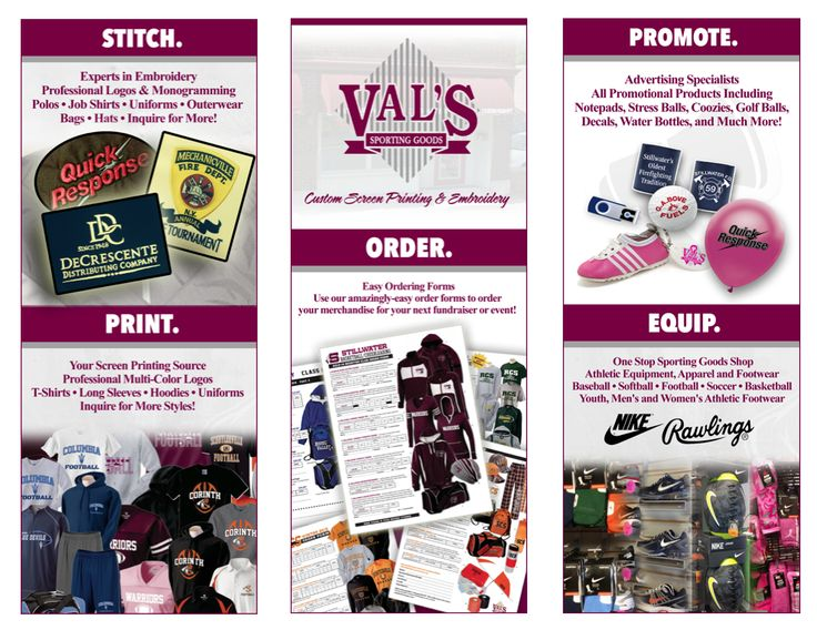 ValS Sporting Goods InStore Brochure Rear Facing Pages  Mark H