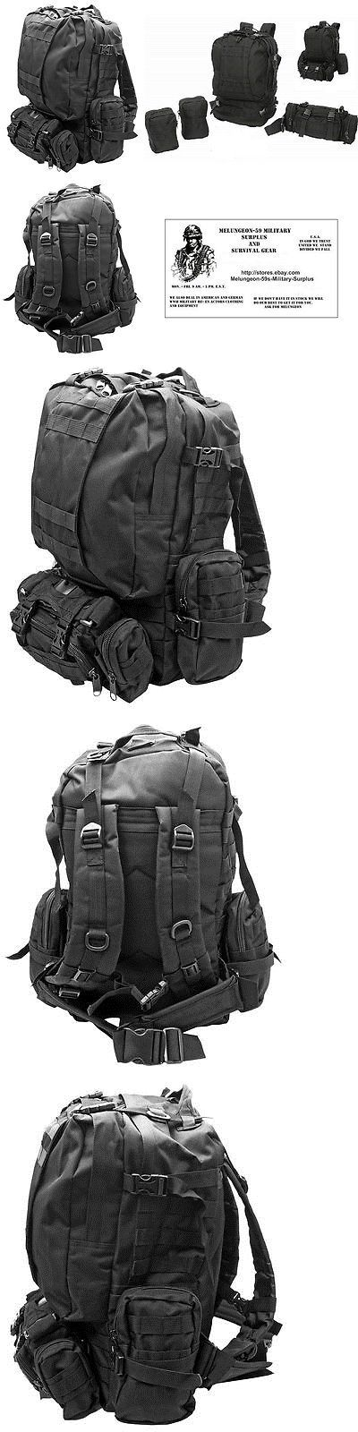 Other Emergency Gear 181415: 4Pc Black Backpack Bug Out Bag Tactical / Military / Survival Gear Day Pack -New -> BUY IT NOW ONLY: $56.95 on eBay!