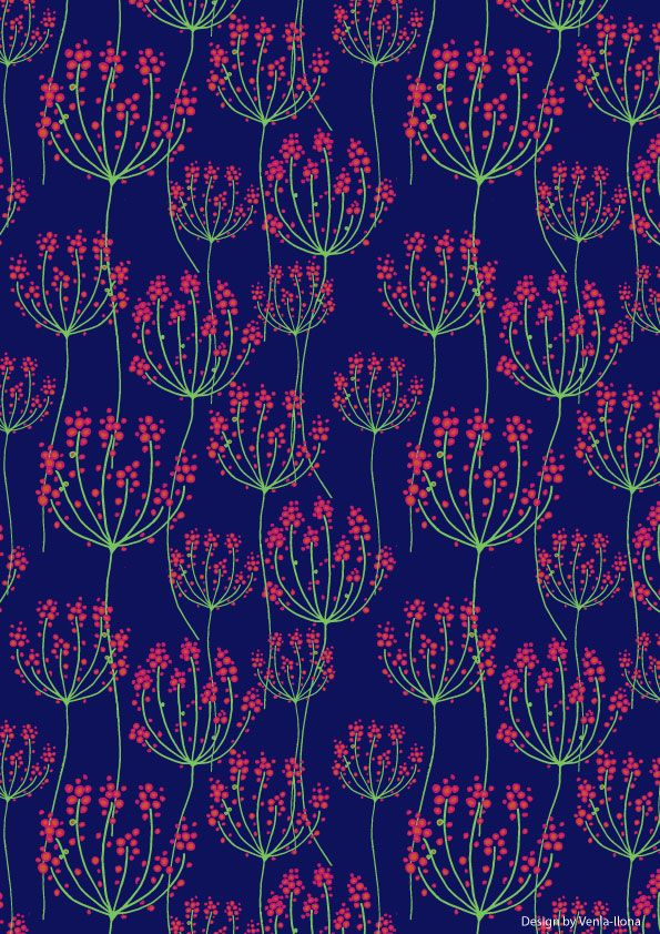 In the middle of the night - pattern by Venla-Ilona