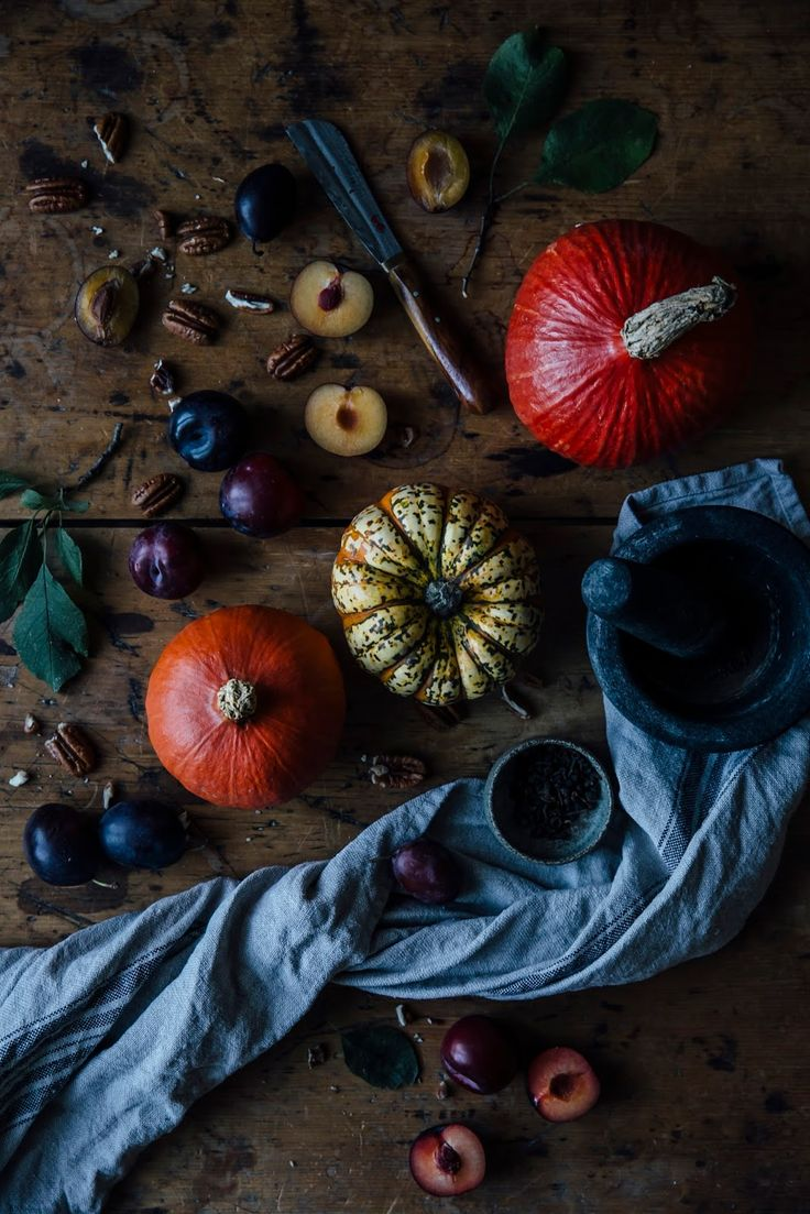 autumn mood: glutenfree pumpkin waffles with plum-rosemary compote and coconut yoghurt
