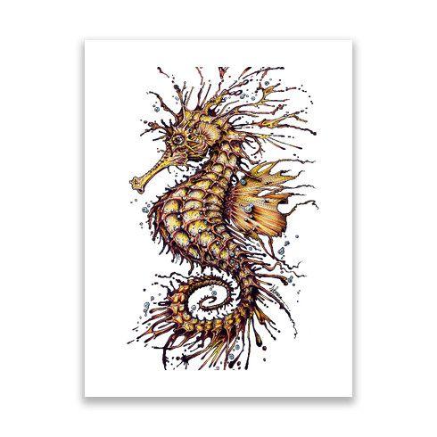 Seahorse Print by taojb at zippi.co.uk