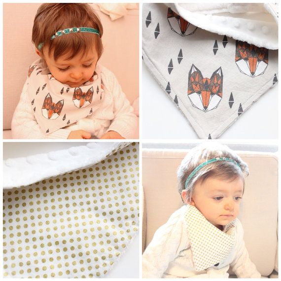 Bandana Scarf or Bib for Babies and Toddlers Choose your Fabrics on Etsy, $12.00