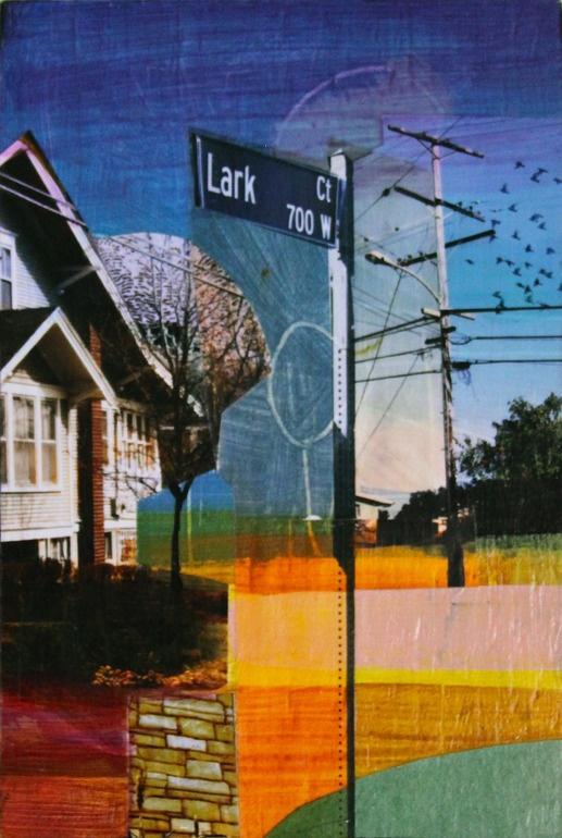 "Saatchi Online Artist: Jon Measures; Assemblage / Collage, 2012, Mixed Media ""Lark Ct"""