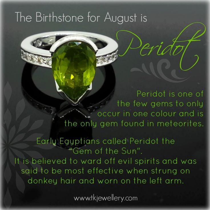 Peridot - The birthstone for August. Just love peridot, one of my favourite gemstones. Such a lovely shade of green.