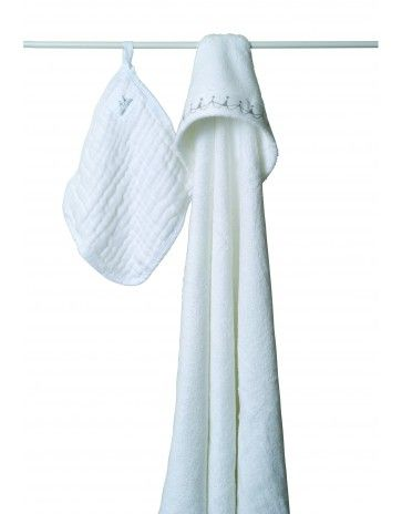 aden + anais bubble towel & wash cloth set - water baby