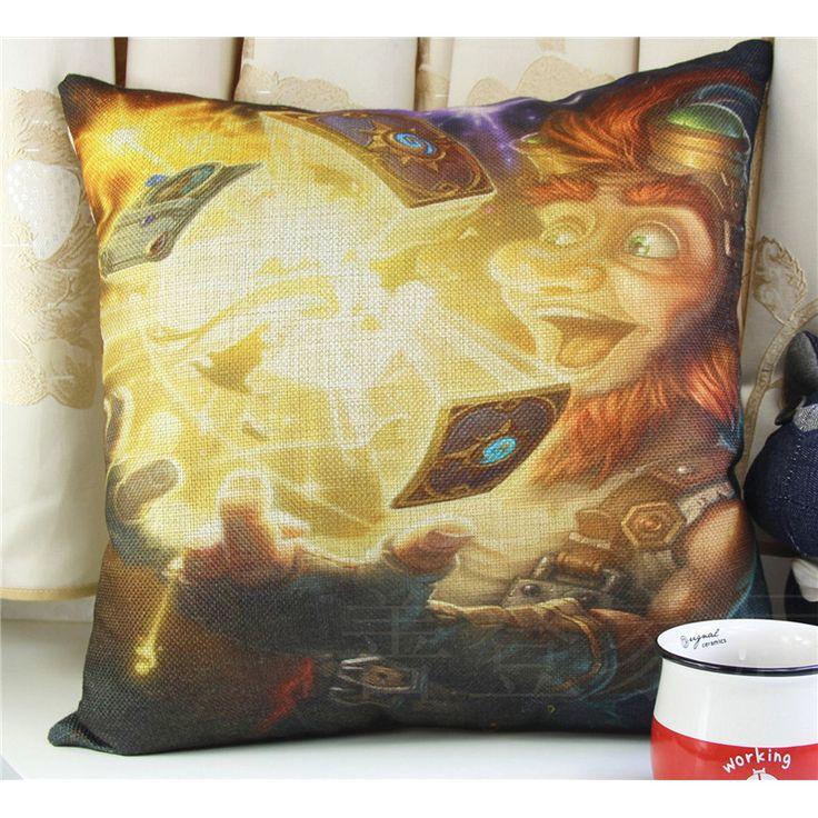 45*45cm Hearthstone Pillow Cover Cotton&Linen Cushion Office Nap Throw Pillow Case UIE535