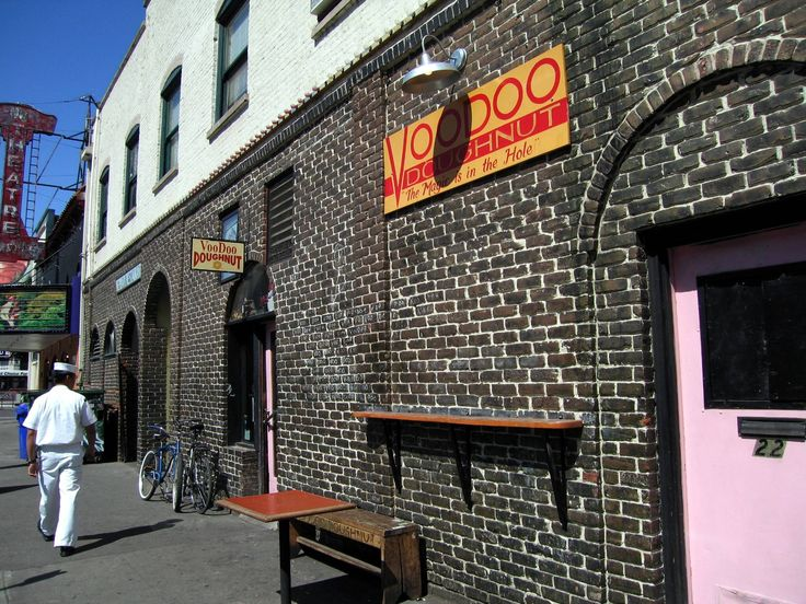 Voodoo Doughnuts, the legendary 24-hour donut shop in Old Town Portland