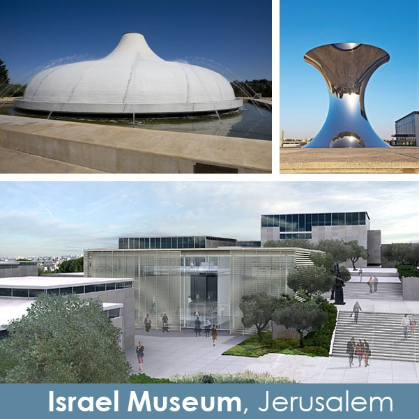 Israel Museum, Jerusalem. The museum also houses the Dead Sea Scrolls in the Shrine of the Book.