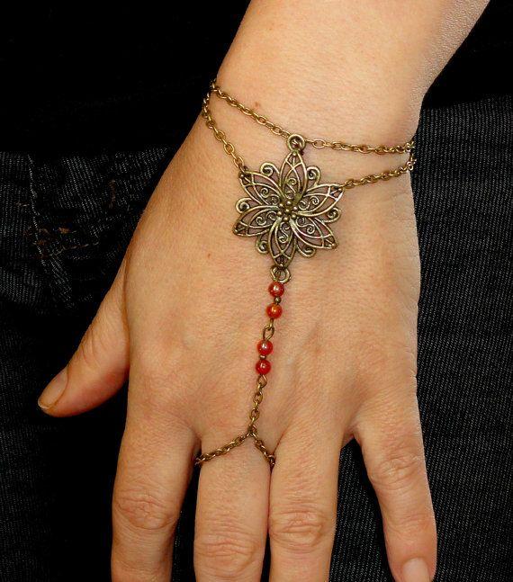 Slave bracelet Antique bronze slave bracelet ring by GemmaJolee, $14.00