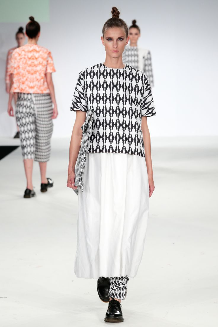 Kingston University student Hannah Cawley's collection on the catwalk at Graduate Fashion week 2014.  Find out more about studying Fashion at KU: http://www.kingston.ac.uk/undergraduate-course/fashion/?utm_source=Pinterest&utm_medium=Social&utm_campaign=KUPinterest&utm_content=Graduatefashionweekpics4July