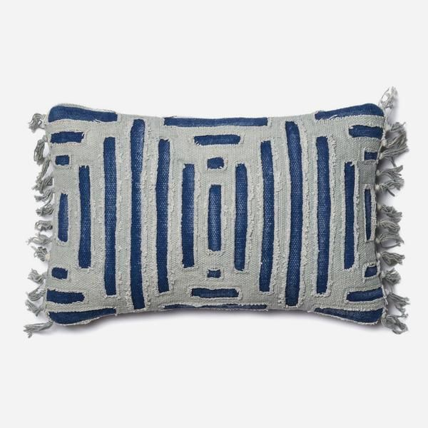 Indigo Grid Pillow from The Jungalow