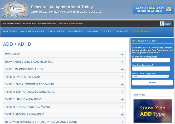 Amen Clinics for ADHD