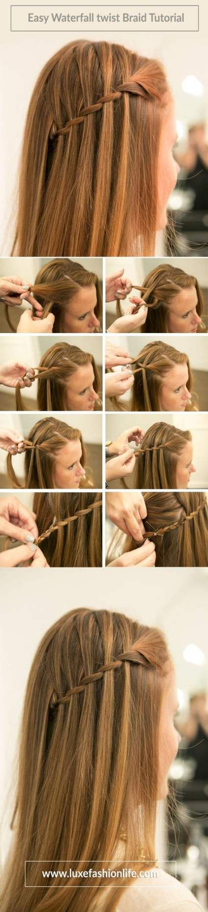 Hairstyles Tutorial Easy Waterfall Braids 50 Ideas For 2019