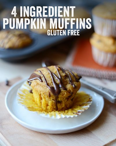 Ingredients -1package of Gluten Free Muffin Mix -1 cup pumpkin puree -3 eggs, large -1/2 cup dairy free milk Optional add ins: 1t-2t pumpkin pie spice, 1/2 cup mini dark chocolate chips