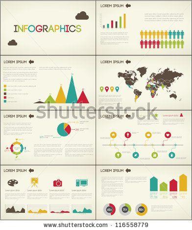Retro set elements of infographics for presentation by Antun Hirsman, via Shutterstock