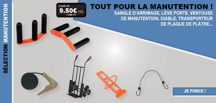 #outils #outillage #manutention #diable #plateau #porter #effort #manutentionner #matériel #déménagement #déménager #ventouse #sangles #LFDB #lesfournituresdubatiment
