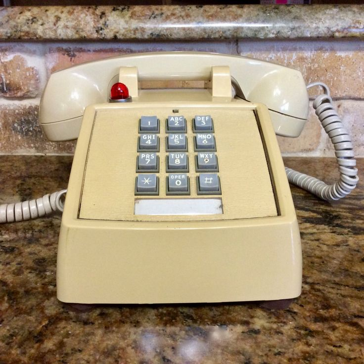 Vintage Telephone, ITT Push Button Beige Desk Phone, Red Light Ringer Indicator, Landline Back up,  Working Condition, Retro Office Supply, by CottonTopVintage on Etsy