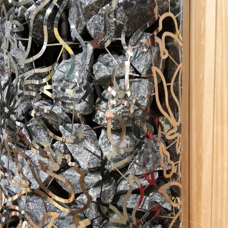 This design is so awesome - SAWO Dragonfire HeaterKing Wall. #kiuas #heater #design #sauna